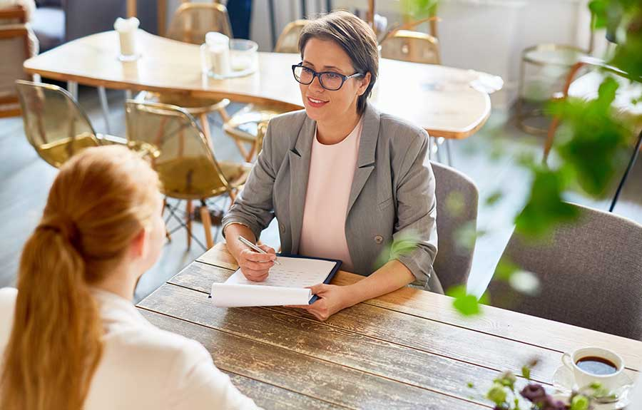 candidate learning speaking skills required for interview